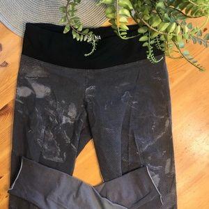 TNA black and grey workout leggings